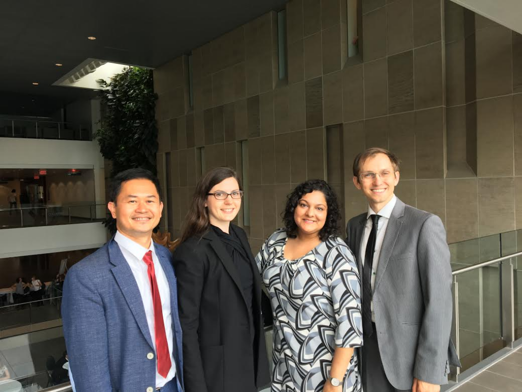 From Left to Right: Philip Mai, Jenna Jacobson, Priya Kumar, Anatoliy Gruzd