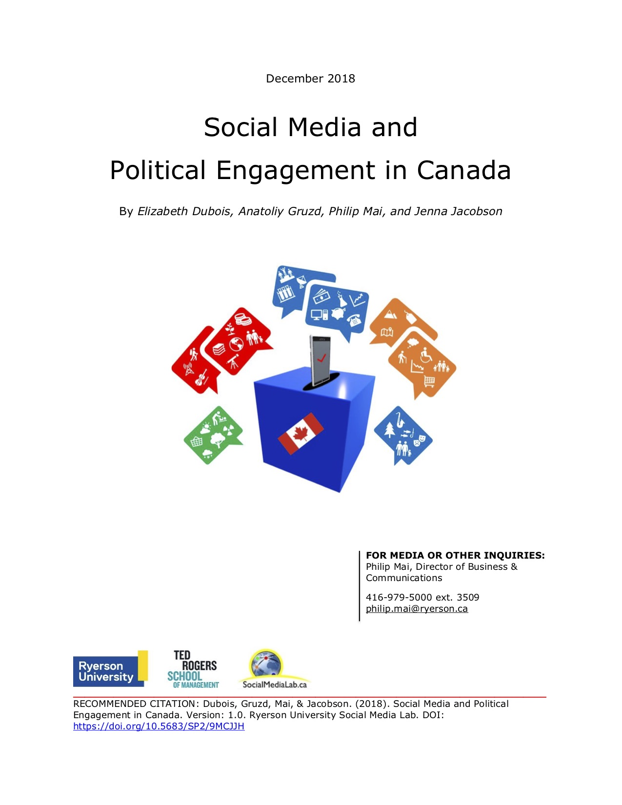 Social Media and Political Engagement in Canada